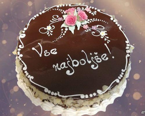 Rojstno dnevna torta - čokolada z jagodami | Sladki dar