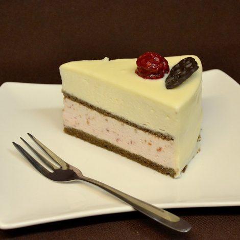 Torta Z Belo čokolado In Malinami