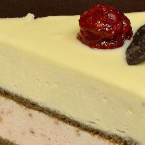 Torta Z Belo čokolado In Malinami | Sladki Dar