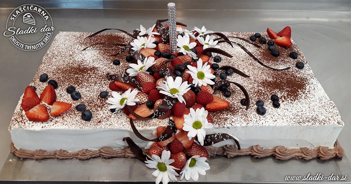 Čokoladna LCHF torta za rojstni dan