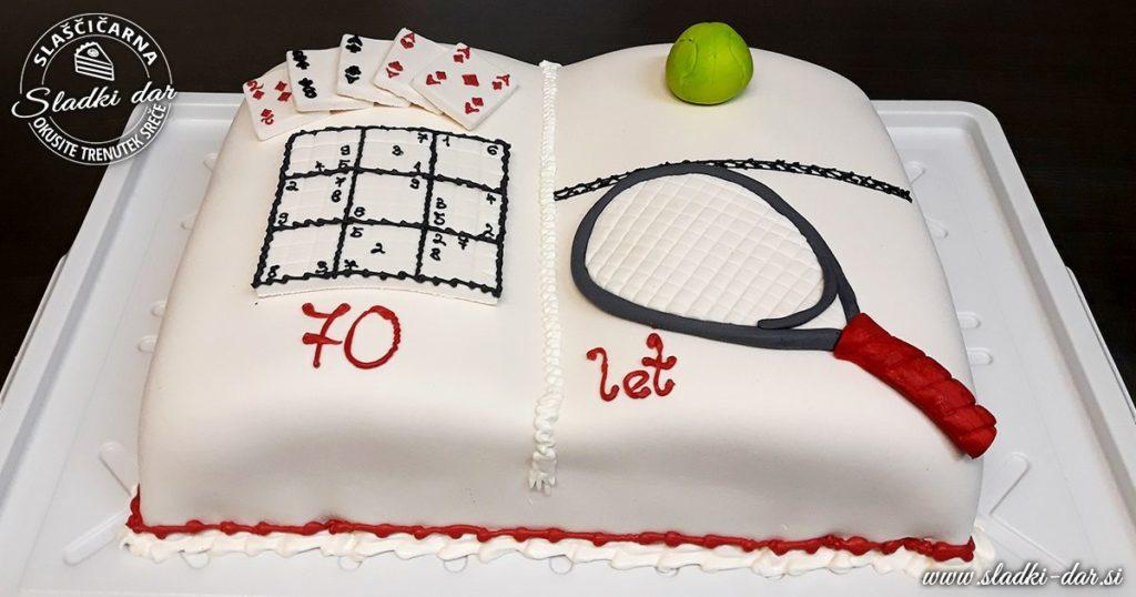 Rojstnodnevna torta za 70 let